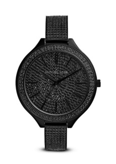 Michael Kors All Black Slim Runway Glitz Watch, 42mm