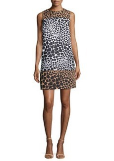 Michael Kors Animal-Print Colorblock Dress