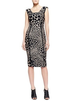 Michael Kors Animal-Print Fitted Dress