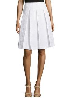 Michael Kors Animal-Print Pleated Skirt