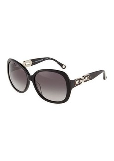 Michael Kors Anna Square Cable-Link Sunglasses