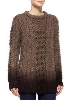 Michael Kors Aran Dip-Dye Sweater, Chestnut