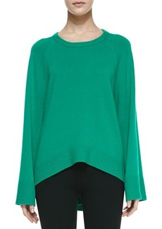 Michael Kors Arch-Hem Cashmere Tunic, Emerald