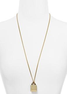 "Michael Kors Astor Padlock Pendant Necklace, 30"""