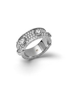 Michael Kors Astor Stud Ring, Silver Color