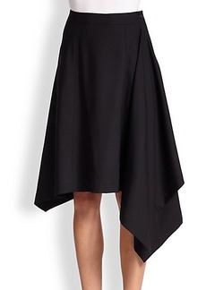 Michael Kors Asymmetrical Wool Blanket Skirt