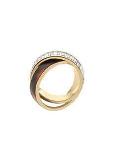 Michael Kors Baguette/Tortoise Eternity Ring, Golden
