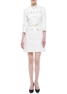 Michael Kors Belted Utility Twill Dress