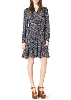 Michael Kors Blossom-Print Belted Dress