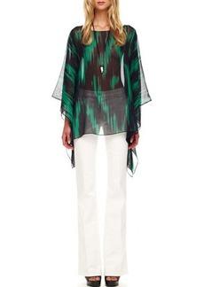 Michael Kors Boot-Cut Jeans, Optic White