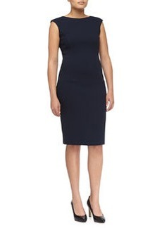 Michael Kors Boucle Cap-Sleeve Fitted Dress, Women's