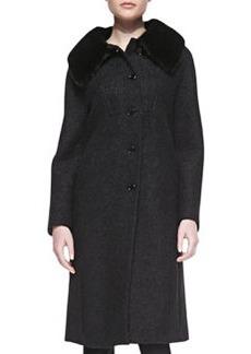 Michael Kors Boucle Coat with Mink Fur Collar