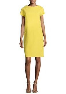 Michael Kors Boucle Crepe Shift Dress, Chartreuse