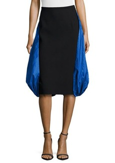 Michael Kors Boucle Parachute Skirt, Black