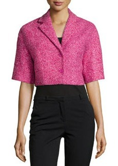 Michael Kors Boucle Tweed Crop Jacket, Peony/Begonia