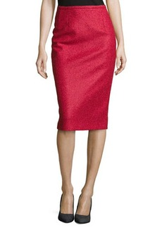 Michael Kors Boucle Tweed Pencil Skirt, Rose/Azalea