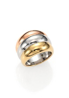 Michael Kors Brilliance Statement Tri-Tone Stacked Ring