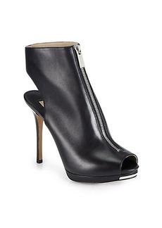 Michael Kors Brynn Leather Platform Ankle Boots