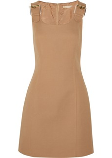 Michael Kors Buckle-embellished cotton-crepe dress