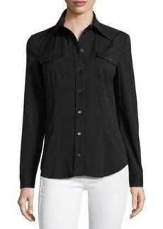 Michael Kors Button-Down Shirt, Black
