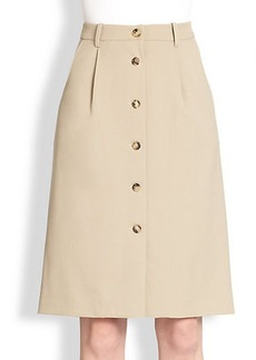 Michael Kors Button-Front Trouser Skirt
