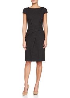 Michael Kors Cap-Sleeve Dress with Draping