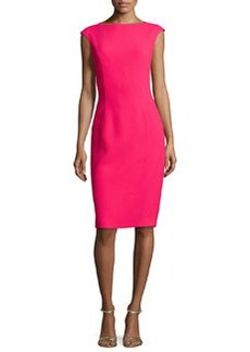 Michael Kors Cap-Sleeve Sheath Dress, Azalea