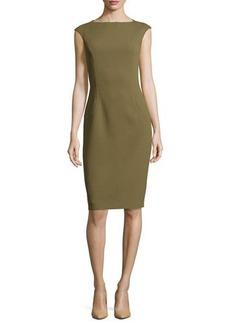 Michael Kors Cap-Sleeve Sheath Dress, Military