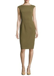 Michael Kors Cap-Sleeve Sheath Dress, Military