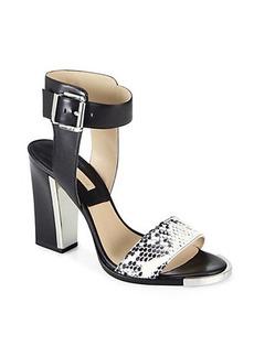 Michael Kors Carson Snakeskin & Leather Sandals