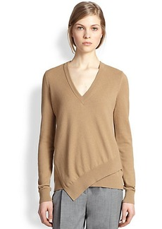 Michael Kors Cashmere Asymmetrical-Hem Sweater