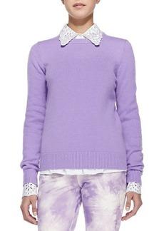 Michael Kors Cashmere Crewneck Sweater, Wisteria