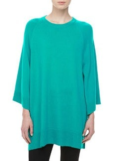 Michael Kors Cashmere Scoop-Neck Poncho, Sky