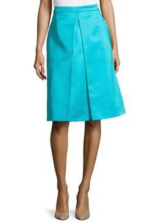 Michael Kors Center-Pleat Skirt, Aqua
