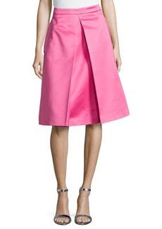 Michael Kors Center-Pleat Skirt, Carnation