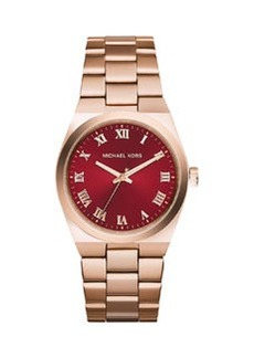 Michael Kors Channing Rose Golden Stainless Steel Watch