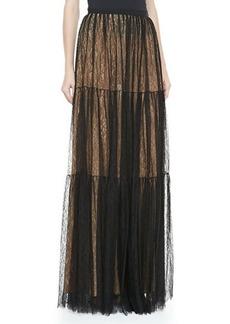 Michael Kors Chantilly Lace Three-Tiered Ball Skirt