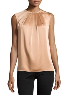 Michael Kors Charm Pleated-Front Top