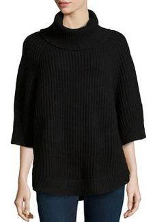Michael Kors Chunky-Knit Turtleneck, Black