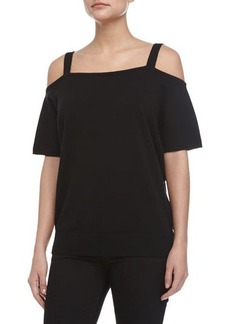 Michael Kors Cold-Shoulder Tee, Black