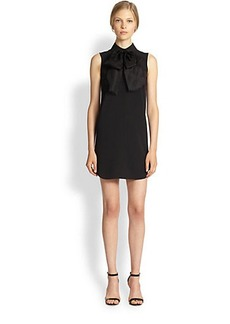 Michael Kors Collared Bow-Neck Shirtdress