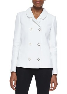 Michael Kors Collection Cotton Broadcloth Double-Breasted Jacket