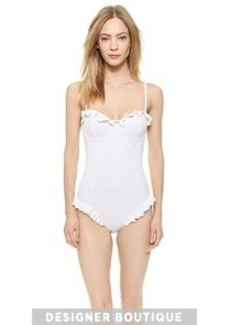 Michael Kors Collection Eyelet Underwire Maillot