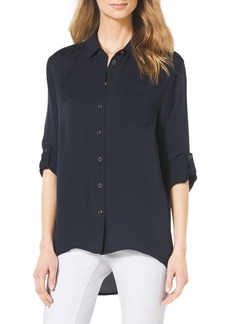 Michael Kors Collection High-Low Button-Front Blouse