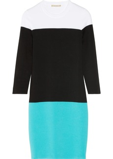 Michael Kors Color-block cotton sweater dress