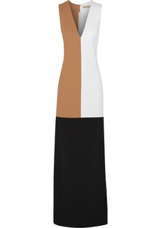 Michael Kors Color-block crepe gown