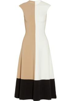 Michael Kors Color-block wool-blend crepe dress