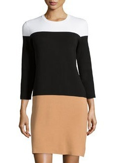 Michael Kors Colorblock Knit Dress, Suntan