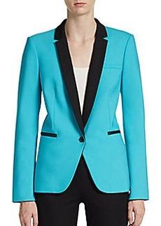 Michael Kors Colorblock Wool Tuxedo Jacket