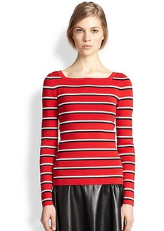 Michael Kors Compact Knit Stripe Top